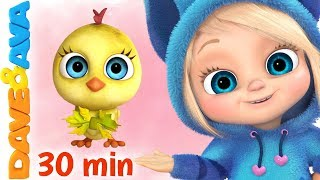 🐣 Five Little Birds + More Nursery Rhymes & Kids Songs | Dave and Ava 🐣