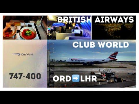 British Airways Business Class Club World, 747 Upper Deck - Chicago (ORD) to London Heathrow (LHR)