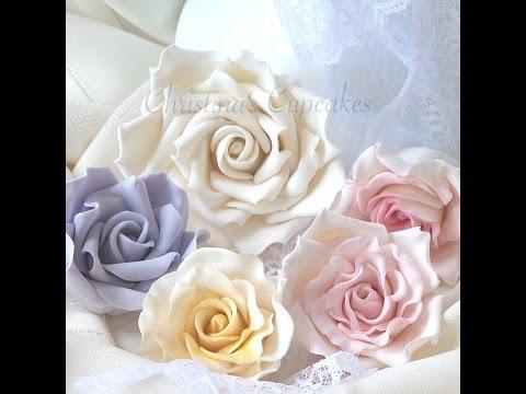 NEW: How to make a gumpaste rose