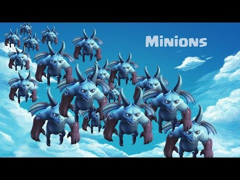 Clash Of Clans  100 Level 1 Minion Attack