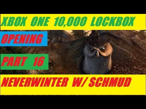 Xbox One 10,000 Lock Box Open Day 16 Neverwinter With Schmudthedarth