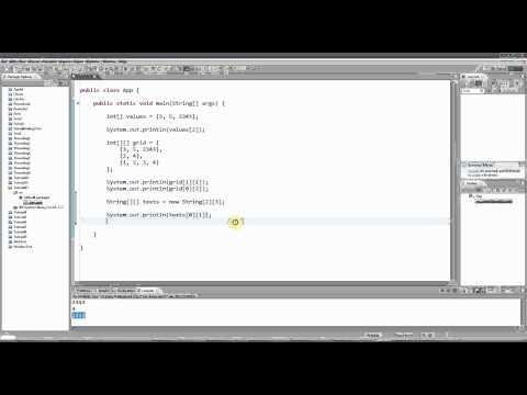 Learn Java Tutorial for Beginners, Part 12: Multi-dimensional Arrays