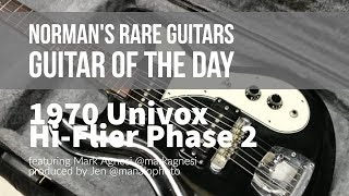 Norman's Rare Guitars - Guitar of the Day: 1970 Univox Hi-Flier Phase 2