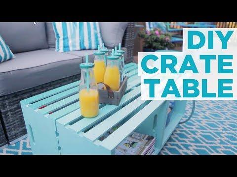 DIY Crate Coffee Table - HGTV