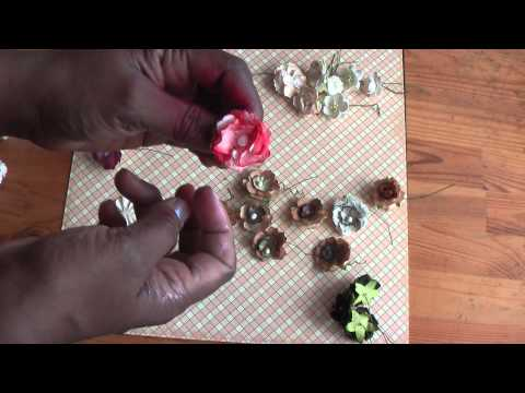 Scrapbooking: Vintage shabby chic altered flowers with tutorial
