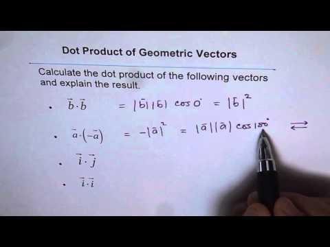 Dot Product parallel Perpendicular Vectors