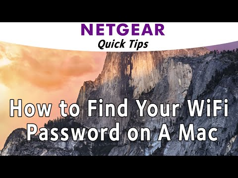 How to Show WiFi Password on a Mac | NETGEAR