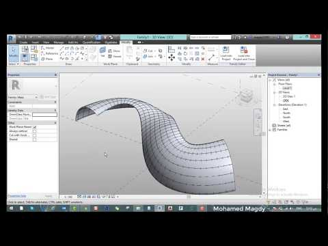 Curved Mass with Pattern   Revit