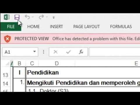 Mengatasi Masalah Password Protected View pada Ms-Excel