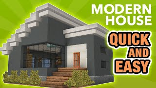 Minecraft How To Build A Small Modern House Tutorial 10