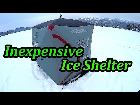 Pop Up Ice Shelter Review | Lake Trout Fishing