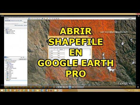 Abrir Shapefile en Google Earth PRO