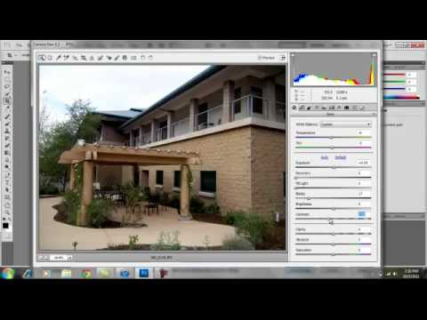 How to open a JPG Image in Camera Raw on Photoshop CS5