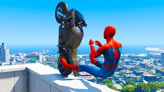GTA 5 Spiderman Epic Jumps #2 ( Spider-Man Stunts & Fails )