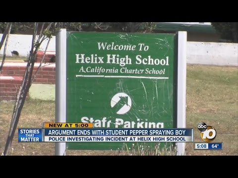 Argument at Helix High School ends with girl pepper spraying boy in face