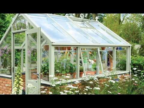 Brick Base Wooden Greenhouses at Home Ideas