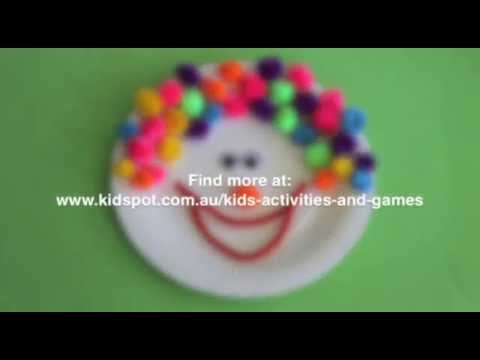 How to make a paper plate clown