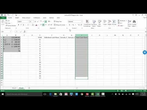 Excel Example 3: Cash Flow Diagrams
