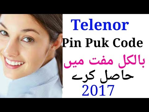 Find Telenor PIN PUK Code Free Very Esay 2017