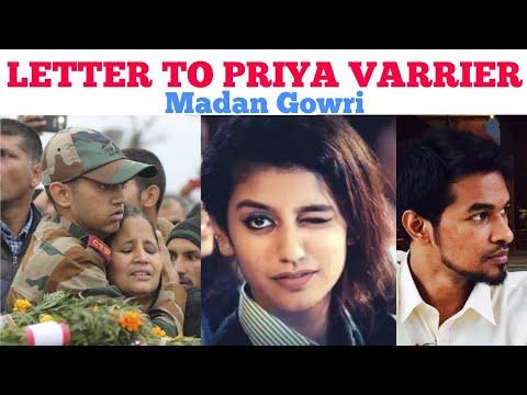 Letter to Priya Varrier | Tamil | Madan Gowri | MG