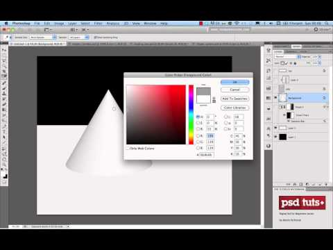 How to Apply Light, Shading, and Shadow to Round Objects in Photoshop