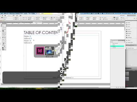 Table Of Contents Tutorial Adobe InDesign CS6