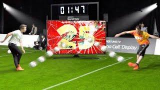 THE STRANGEST FOOTBALL CHALLENGE VS CHRIS!