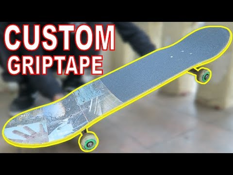 DIY CUSTOM SKATEBOARD GRIPTAPE! #4