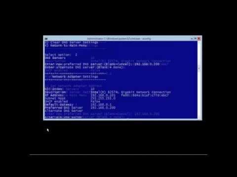 Server Core Configuration & Management - Windows 2012 R2