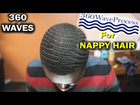 How to Get 360 Waves Naturally with Nappy Hair