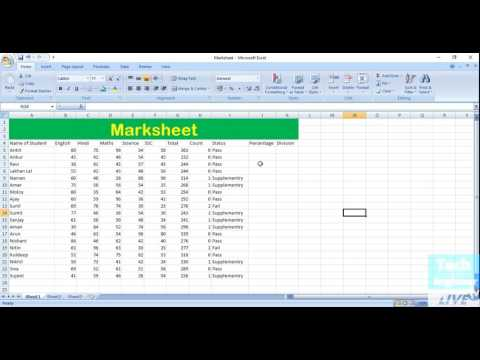 Find Percentage via IF Function in MS Excel