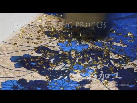 Kinsai Kako / Decorating the cloth with gold leaf【How to make Kimono No.5】