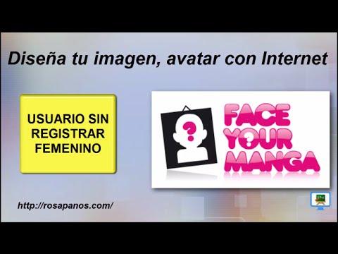 FACEYOURMANGA (1) usuario sin registro femenino - diseña tu imagen en internet (HD con Subtitulos)