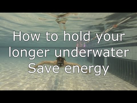 How to swim under water (hold your breath longer)