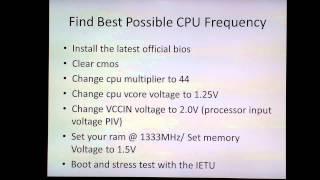 Intel Haswell Overclocking Guide Part 1 G3258 4670k 4690k 4770K 4790K