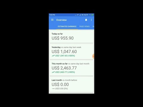 My AdSense Earnings of $1000 Per Day from Android Apps