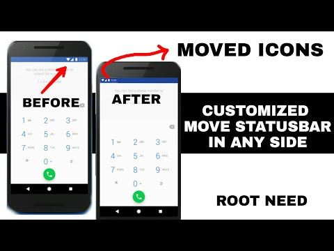 High Customize Move Statusbar Battery Network icons in Any Android || Root Need