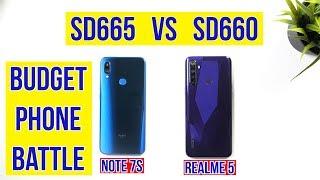 Realme 5 vs Redmi Note 7S Full Comparison: SD665 vs 660 PUBG Gameplay | Camera Test | Battery