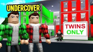 Hotel Was TWINS ONLY.. We Went UNDERCOVER! (Roblox Bloxburg)