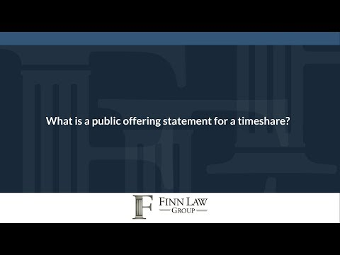 What is a public offering statement for a timeshare?