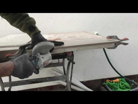 How to mitre porcelain tiles.