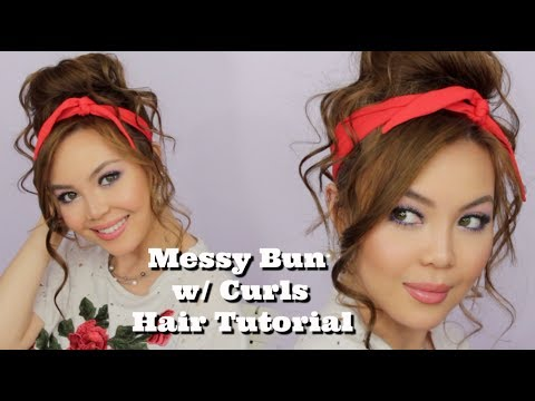 Easy-to-do Messy Bun with Curls Hair Tutorial | AnnaMariaPDT | 2018