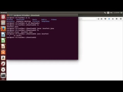 Installing JDK Ubuntu - 02 - Testing Java Compiler