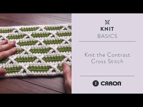 How To Knit the Contrast Cross Stitch