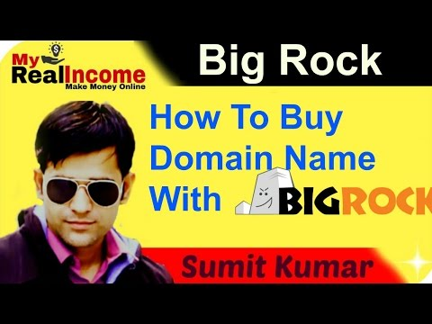 How to buy a Domain Name With BigRock  !!!