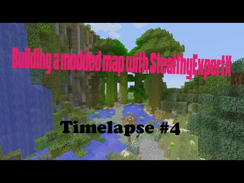 Minecraft Xbox 360: Building a Modded Map (Time Lapse) #4 with StealthyExpertX