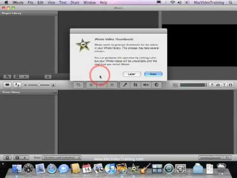 Quick Start to iMovie & iDVD - Importing Movies from iPhoto