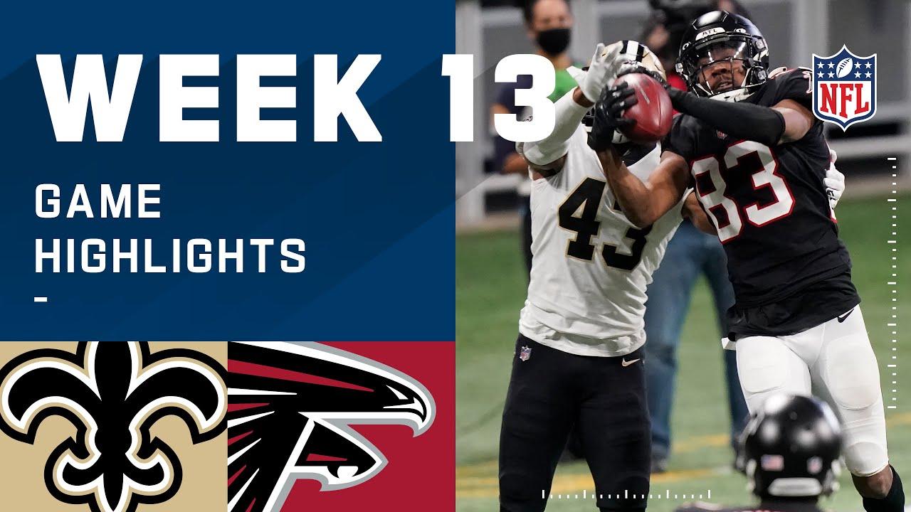 Saints vs. Falcons Week 13 Highlights | NFL 2020