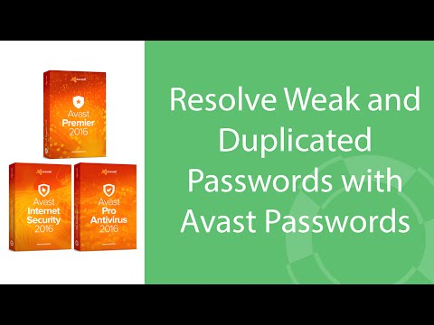 Avast Passwords: How to Resolve Weak and Duplicated Passwords
