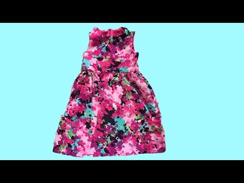 HOW TO SEW A DRESS FOR KIDS  WITH A LINING